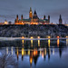 Small photo of Dawn at Ottawa's Parliament Hill