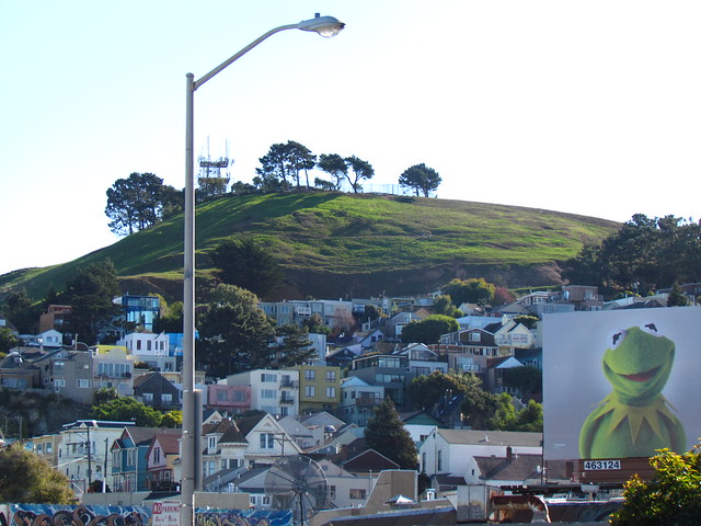 It's not easy being green, Bernal Hill.