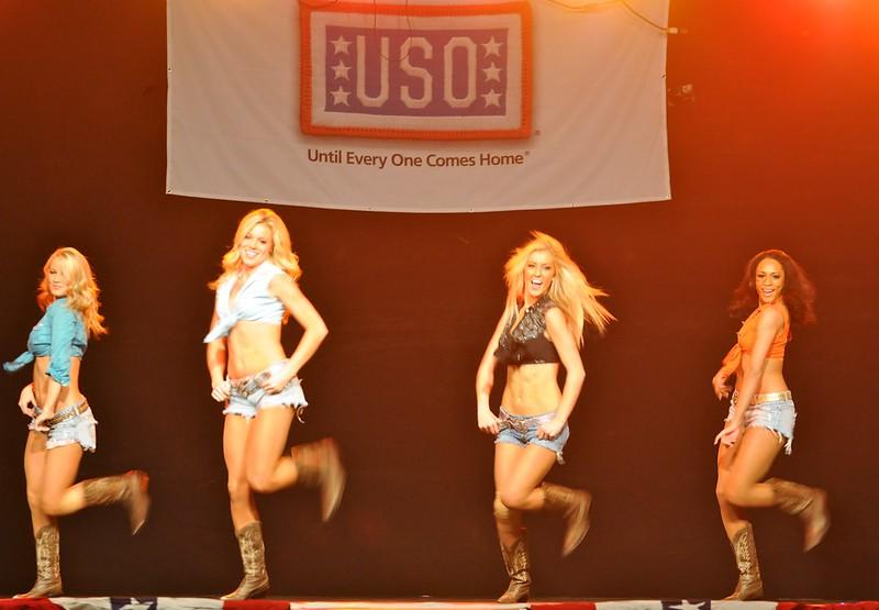 Dallas Cowboys Cheerleaders Performance - U.S. Army Garrison Humphreys, South Korea - 21 December 2011
