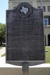 Photo of John Tyler black plaque