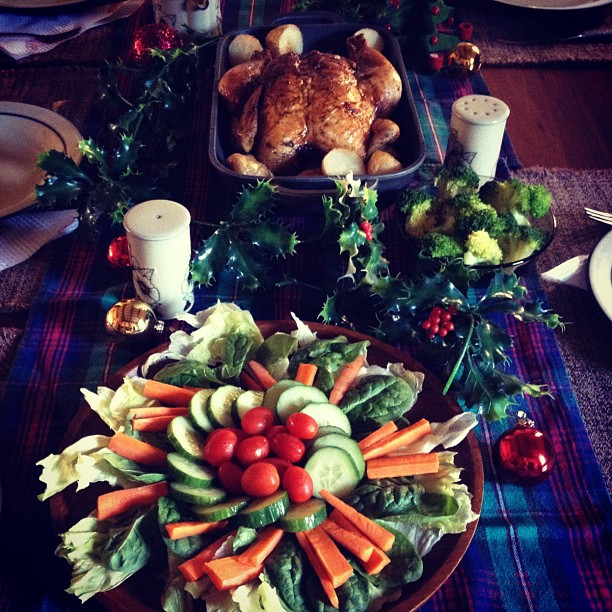 A simple Christmas Eve spread with my in laws.