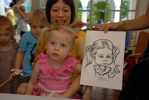 caricature live sketching for children birthday party 08 Oct 2011 - 11