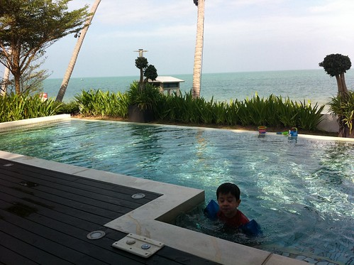 Private pool next to the beach at our villa on Koh Samui