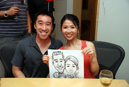 caricature live sketching 2011 Formula 1 RR Donnelley Party - 11