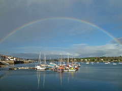Rainbow over Falmouth Harbour, Christmas Eve 2011 by Tim Green aka atoach