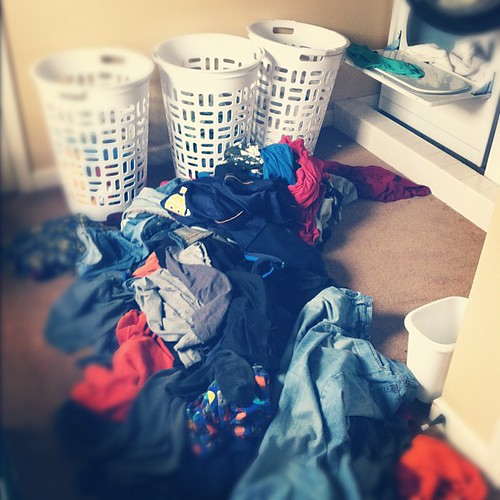 My laundry room threw up. #dayafterchristmas