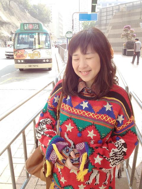 vintage festive sweater