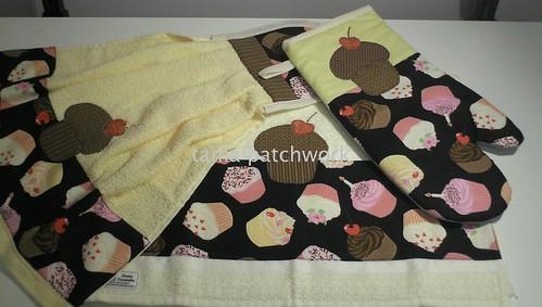 Conjunto cozinha Cupcake by tania patchwork