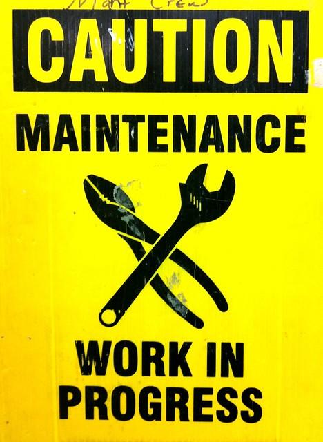 Caution - Maintenance Work In Progress | Flickr - Photo ...