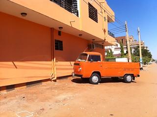 Orange Volkswagen van