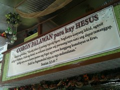 Bible verse above Coron souvenir shop