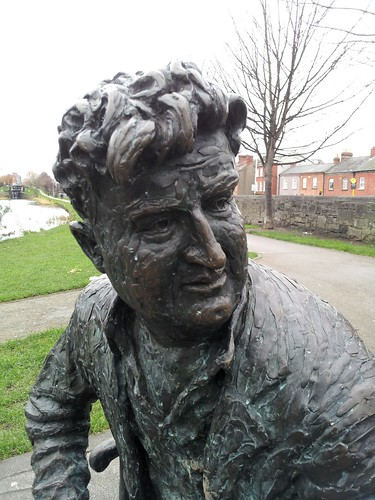 Brendan Behan by the Royal Canal