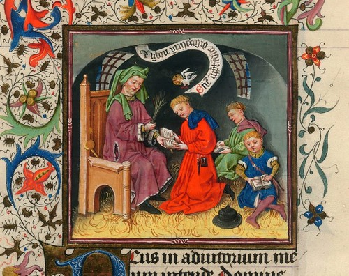 013-The Hours of Catherine of Cleves- alrededor de 1440 - MS M.917 p. 62-detalle-© The Morgan Library & Museum