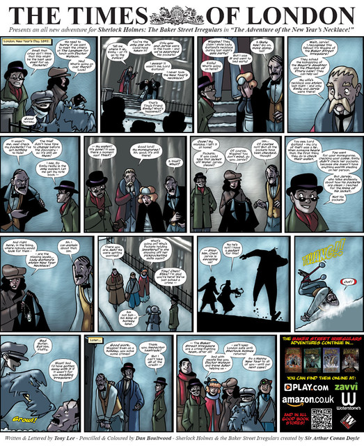 Baker Street Irregulars Comic - Times of London