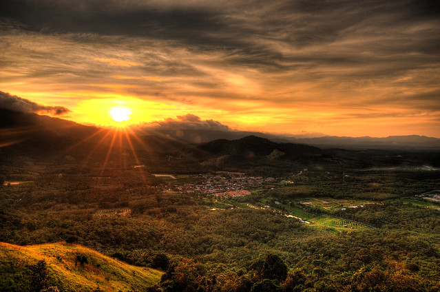 Sunrise over Broga.