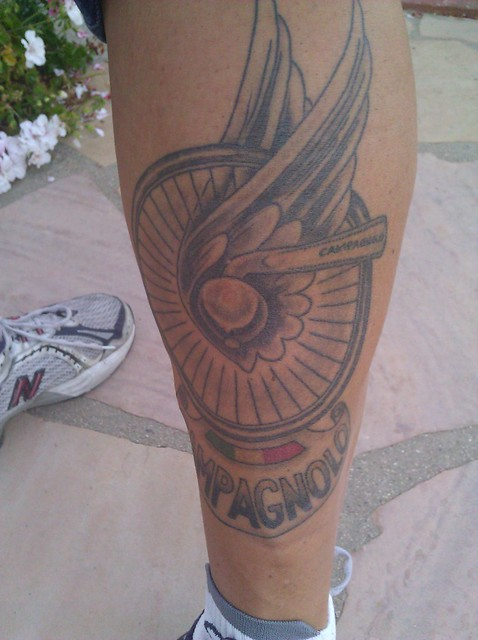 Nic Grossi's Campagnolo tattoo