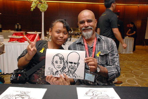 Caricature live sketching for SCORE – Yellow Ribbon Celebrating 2nd Chances 2011 - 11