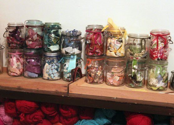 My little jars of scraps