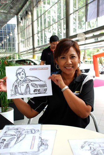 Caricature live sketching for Tan Chong Nissan Almera Soft Launch - Day 1 - 5