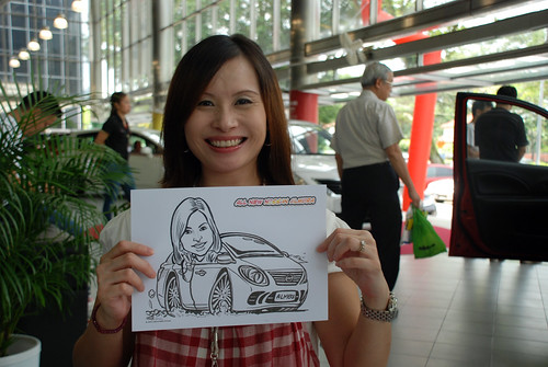 Caricature live sketching for Tan Chong Nissan Almera Soft Launch - Day 1 - 21