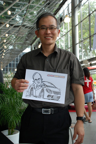 Caricature live sketching for Tan Chong Nissan Almera Soft Launch - Day 2 - 10