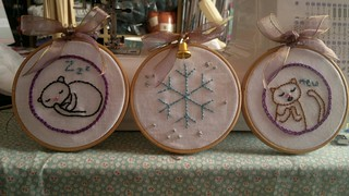 Christmas Cats embroidery