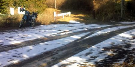 まだ残っていた雪