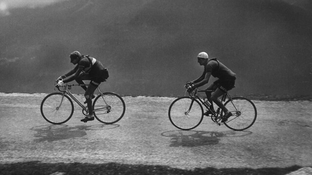 Bartali on the heels of Coppi _ 1949 Tour de France