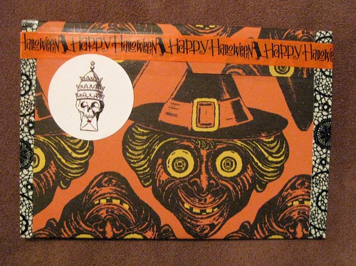 Handmade Halloween envelope back