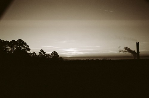 film sc sunrise canon kodak dam southcarolina columbia canona1 kodakbw400cn 2012 columbiasc lakemurray lakemurraysc bwfp