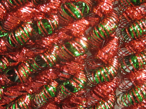Red and Green Ribbon Detail