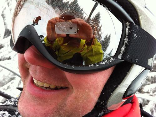 Goggles & helmet with a bonus smile!