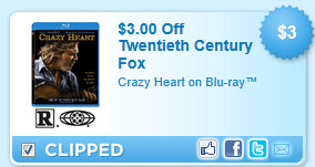 Crazy Heart On Blu-ray Coupon