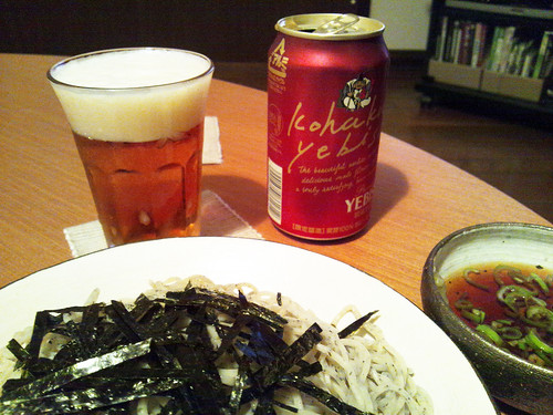 beer and soba