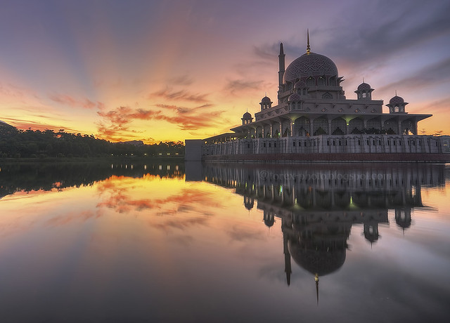 Beutiful Sunrise at Putrajaya, Malaysia
