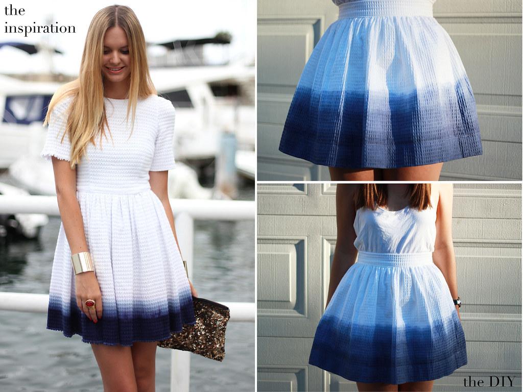 Как сделать платье из юбки и рубашки