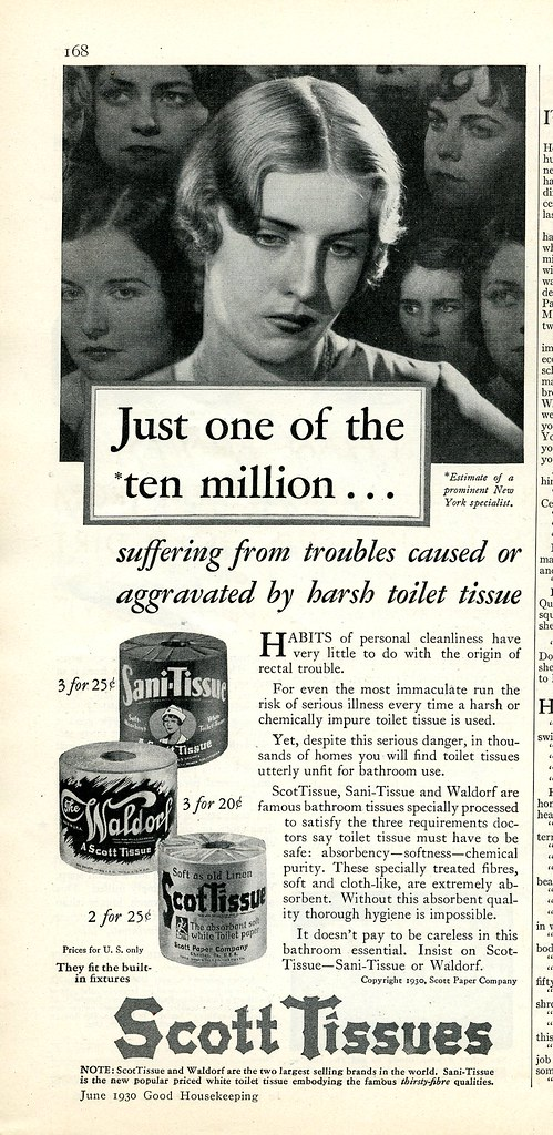 1930 ad Scott toilet paper