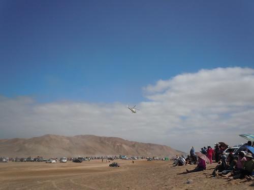 Rally Dakar 2012 helicóptero de prensa