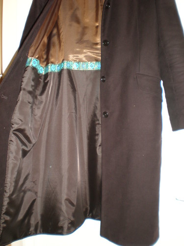 Brown coat lining
