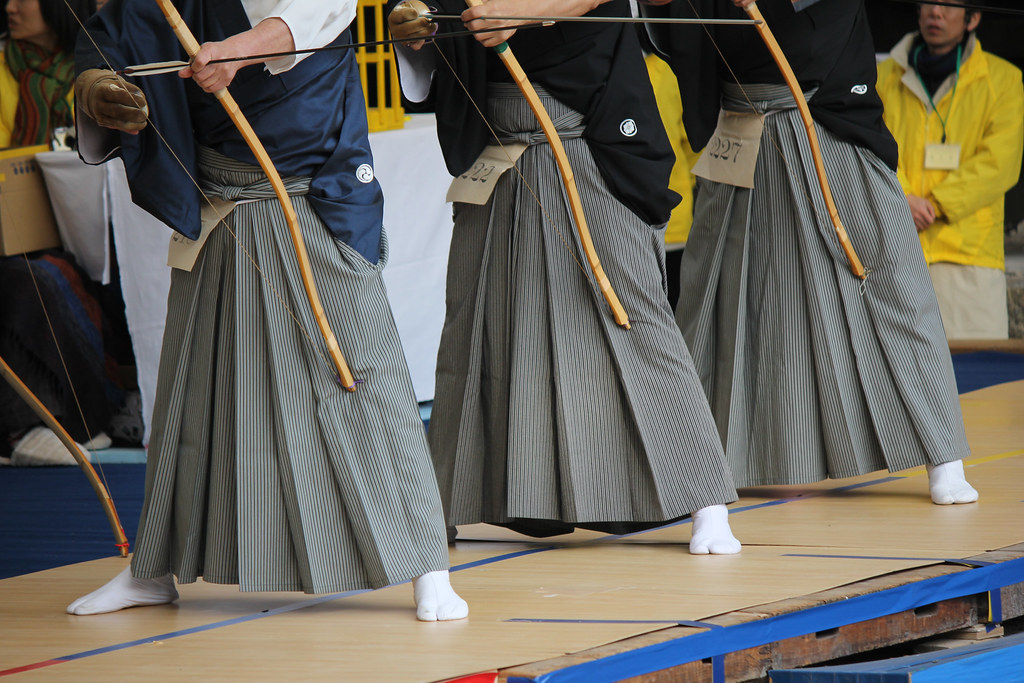 Toshiya Kyudo Archery Contest at Sanjusangendo Temple, Kyoto