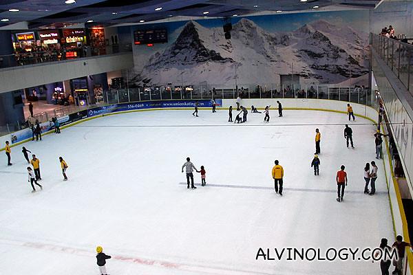 Indoor ice-skating rink
