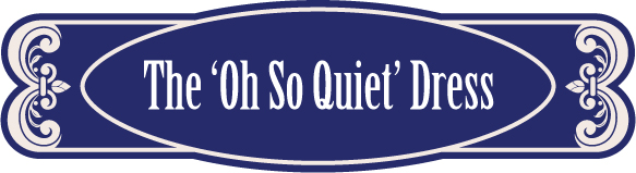 The Oh So Quiet dress logo