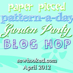 Paper Pieced Pattern-A-Day Garden Party Blog Hop