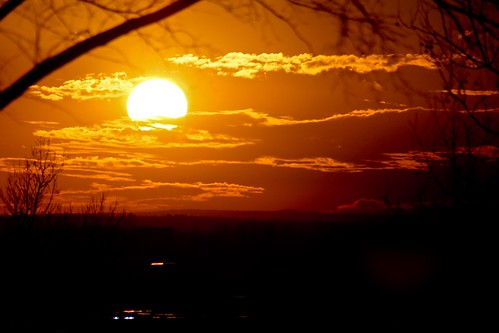 sunset red sun love beauty large warmth corona orage