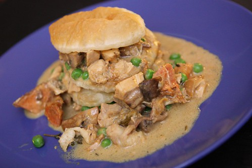 Roast Cream Chicken Stew Napoleon with Puff Pastry
