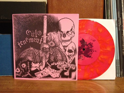 "Tenement / Culo - Spilt 7"" - Red Splatter Vinyl /100 by Tim PopKid"
