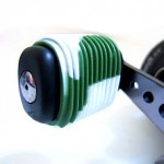 Green White Fishing Reel Grip