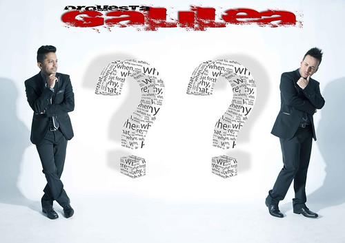 Orquesta Galilea 2012 - cartel presentación dianteira masculina