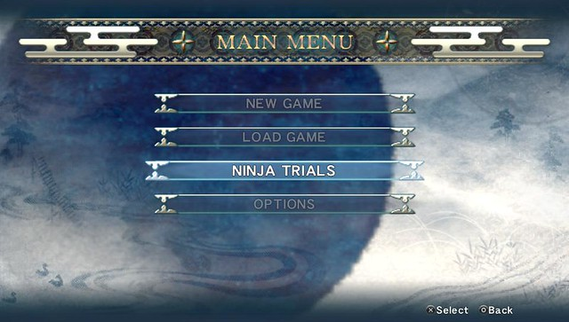 Ninja Gaiden Sigma Plus Main Menu