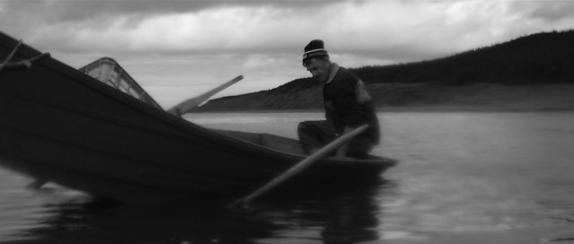 Fisherman in a rowing boat